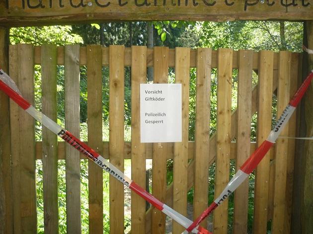 Seit einer Woche ist der Hundeplatz im Rantzauer Forst gesperrt.
