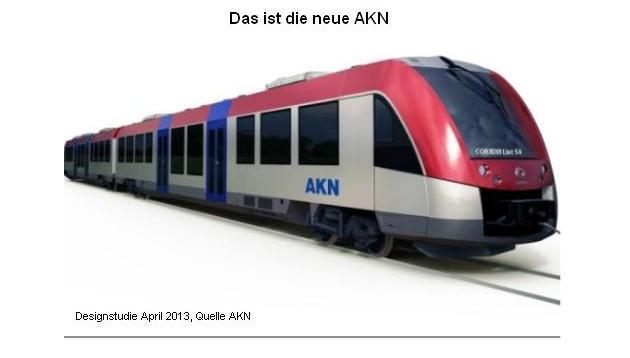 Ab Ende 2015 ist die AKN mit neuen modernen Zügen unterwegs. 14 neue Züge des Typs Lint sind bestellt, Spitzengeschwindigkeit: 120 Kmh.