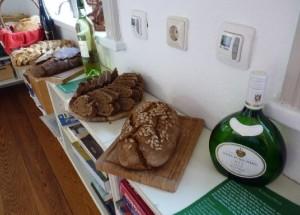 Diese leckeren Brote,  die am Brotwein-Abend verkostet wurden,  erwarten die Besucher nun auch am Mühlentag.