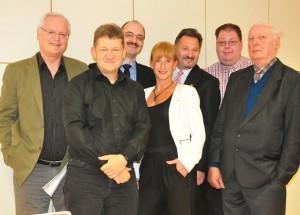Die HU-Liberalen: Frank Rauen, FDP Kreisvorsitzender Stephan Holowaty, Christian Harfmann, Silke Schmude, Klaus-Peter Eberhard, Kai Mäckelmann, Wilhelm Guddat