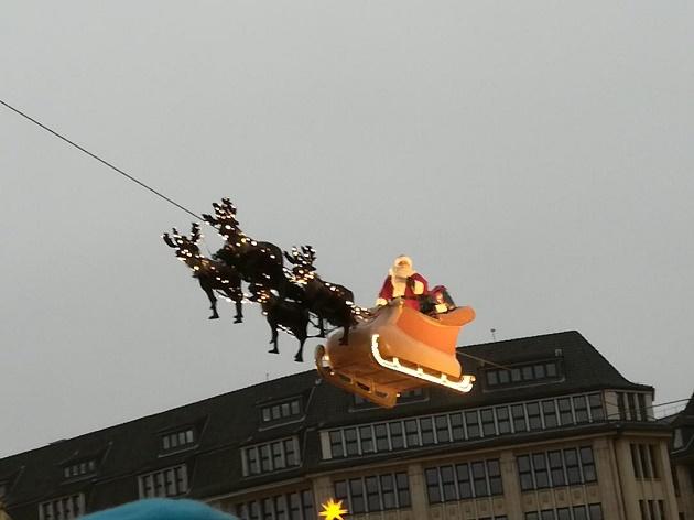 Der Weihnachtsmann heute in Hamburg