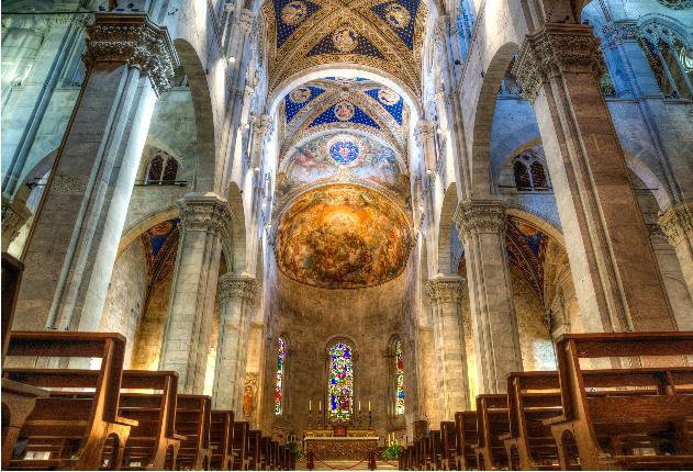 Die Kirche von Lucca
