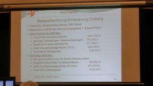 Solidarisch mit 0,20 Cent pro Grundstückquadratmeter gegenüber 11,93 Euro - ein Unterschied wie Tag und Nacht