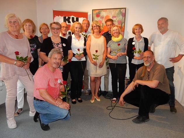 Ingrid Wacker, 4. v. lks. mit den alten und derzeitigen Kümmerern