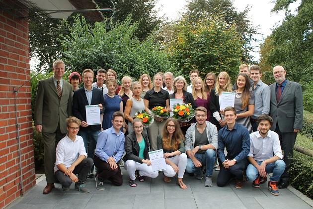 Das  Bild zeigt die Preisträger 2016, die Musical AG des Alstergymnasiums; Foto: Heike Benkmann