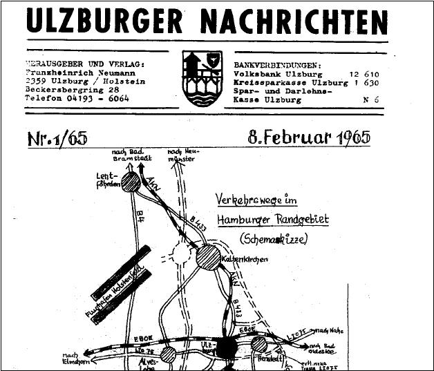 Titelseite der Ulzburger Nachrichten 1965