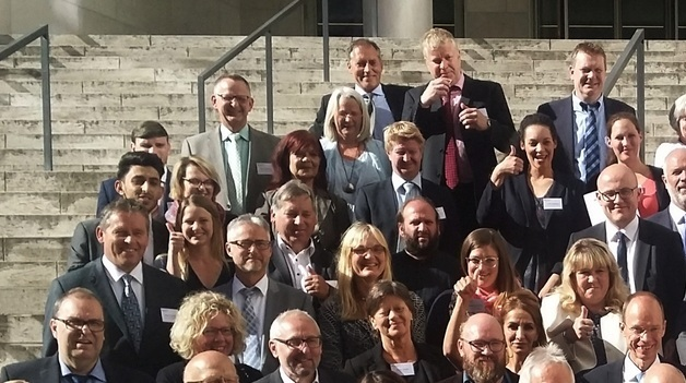 Bürgermeister Bauer bei der Preisverleihung in Berlin