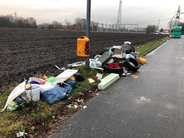 Illegale Müllentsorgung an der Edisonstraße