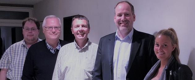 Kai Mäckelmann, Frank Rauen, Holger Kurz, Jan Schupp und Nora Grundmann