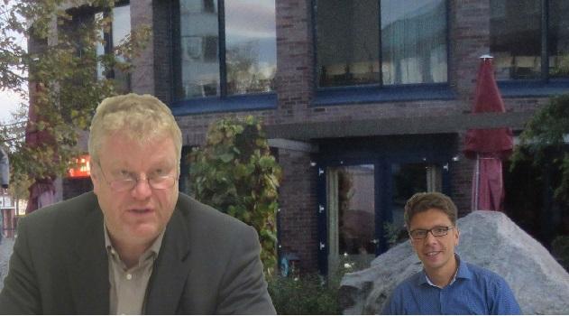 Bürgermeister Bauer und der neue Ordnungsamtleiter Colja Peglow wollen für Ordnung im Gewerbegebiet sorgen