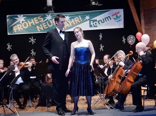 Bettina Rösel, Sopran, und Michael Kunze, Bariton, faszinierten mit schönen Stimmen