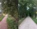 Korrektur: Beide Fotos zeigen Wanderweg auf Gemeindegebiet